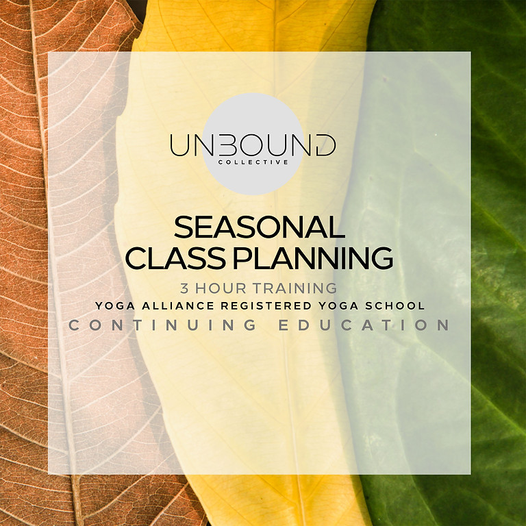 Seasonal Class Planning
