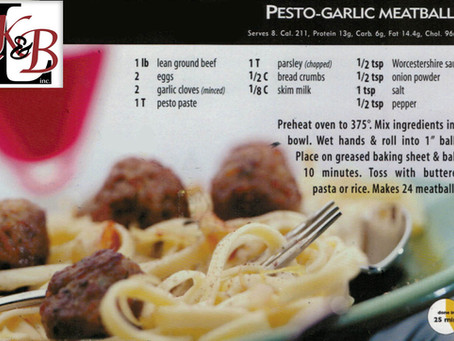Enjoy This Pesto-Garlic Meatball Recipe
