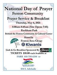 National Day of Prayer Service Breakfast