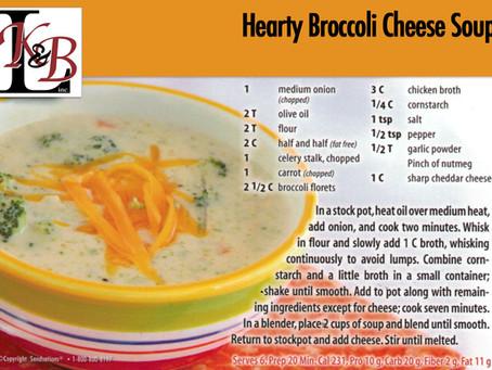 Hearty Broccoli Cheese Soup