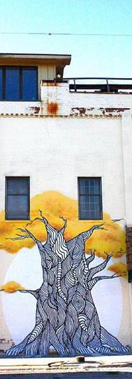 The Tree. Mount Pleasant, MI. Acylic and aerosal Paint.