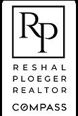 RP Realtor Compass Black Transparent BKG