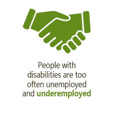 People with disabilities are too often unemployed and underemployed