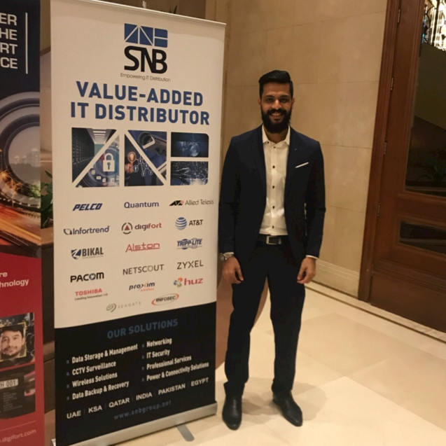 Irshad Abbobacker, Sales director MENA of SNB Middle East