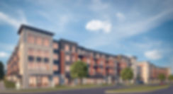 3D rendering of 4-story building C from West Verona Avenue