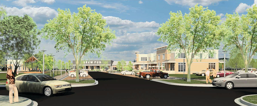 Concept Rendering of the Village Center Entrace