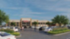 3D rendering of the Hy-Vee grocery store entrance