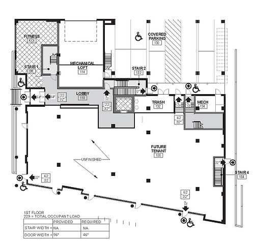 First floor plan at The Edge