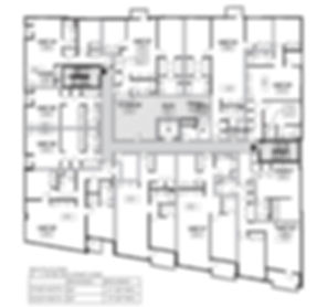 Typical residential floor plan at The Edge