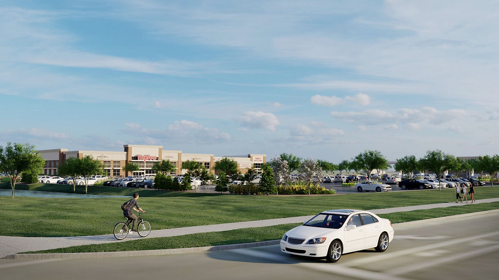 3D rendering of Hy-Vee grocery store view from CTH Q