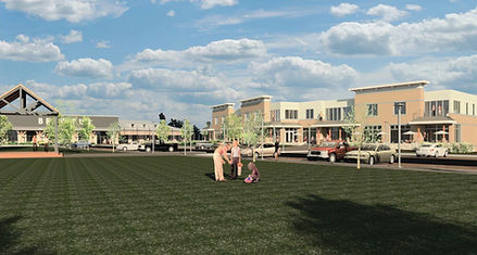 Concept Redering of the Village Green