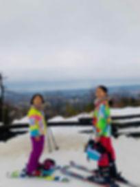 トロント郊外のスキーリゾートBlue Mountainでの2ショット