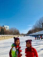 世界最長のスケートリンク「リドー運河」にて