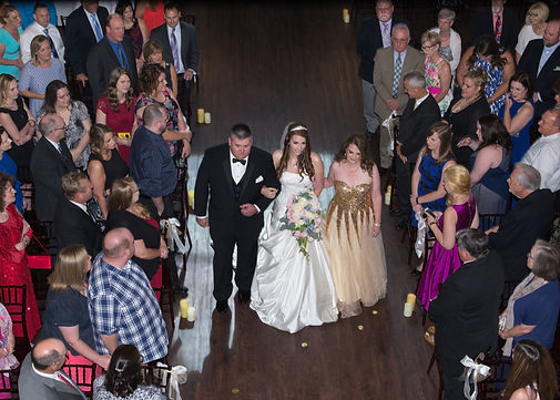 Wedding ceremony at The Castle at Rockwall