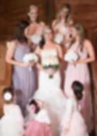 bridal party at Morgan Creek Barn