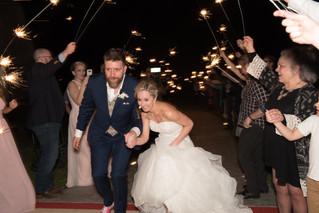 wedding exit wedding sparklers