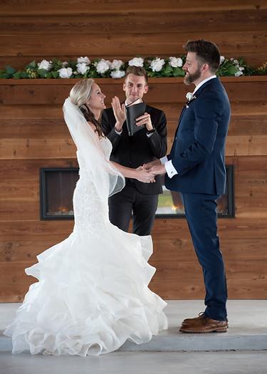 bride and groom  wedding ceremony venue