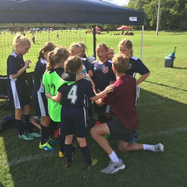Coach Kevin with some quick advice on taking PK's👍😃_#positivecoaching #fun #nashvilleunited #champ
