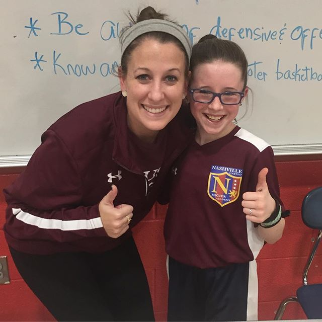 Coach Emily is awesome!!!_#WeAreNUSA #playersfirst #positivecoaching