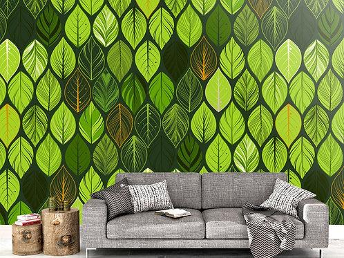 Foto Mural Artistico Folhas Tropicais