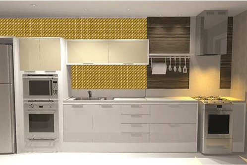 Adesivos Para Azulejo - Dourado 3D
