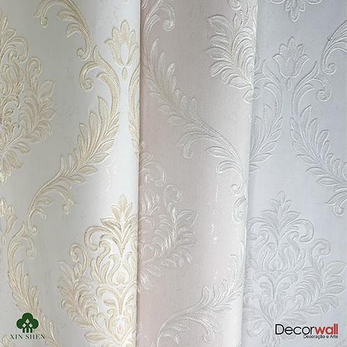 Papel de Parede Importado Vinílico Texturizado arabesco floral