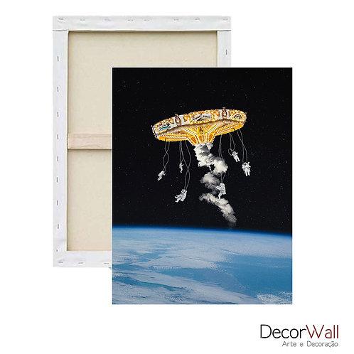 Quadro Decorativo Canvas Collage Astronautas