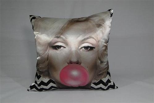 Almofada em Cetim 45cm x 45cm Marilyn Monroe
