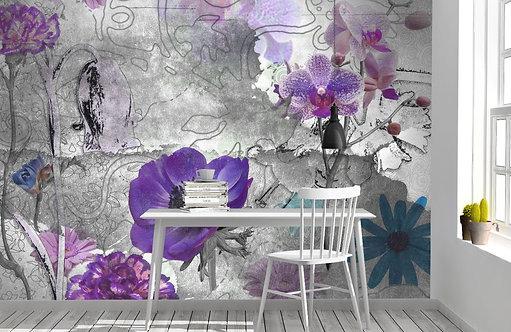 Foto Mural Artistico Flores Moderno
