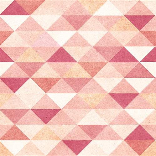 Adesivo de Parede Triangulos Rosa