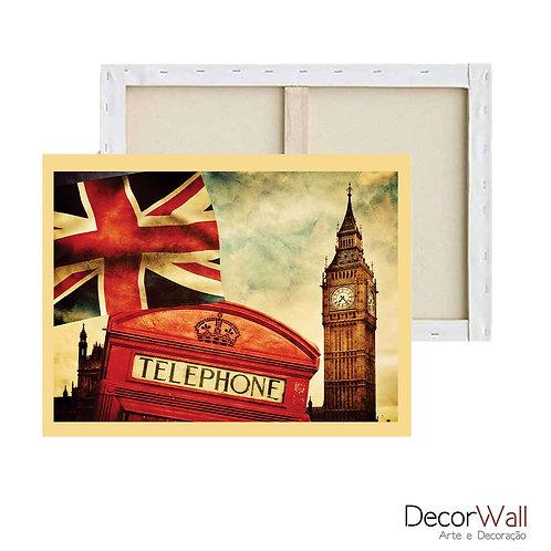 Quadro Decorativo Canvas Londres Vintage
