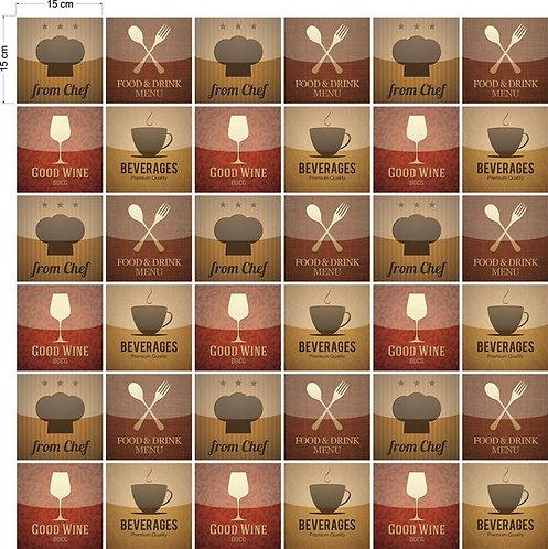 Adesivos Para Azulejo - Vintage food