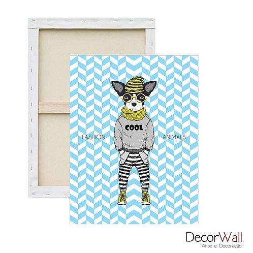 Quadro Decorativo Canvas Bulldog francês Fashion