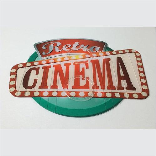 Esteira Para Sofá Em Acrílico Cinema Retro