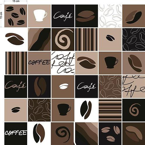 Adesivos Para Azulejo - Café