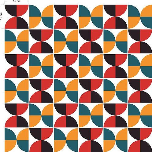 Adesivos Para Azulejo - Circulo Retro