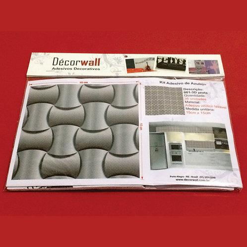Adesivos Para Azulejo - 3D Prata