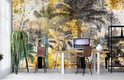 Foto Mural Artistico Floresta Tropical Envelhecido