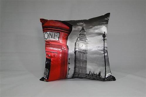 Almofada em Cetim 45cm x 45cm Telefone Londres