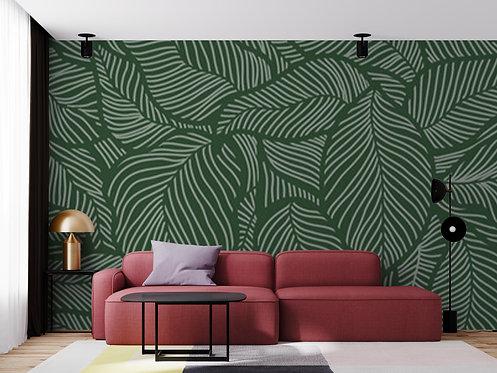 Foto Mural Floral Folhas