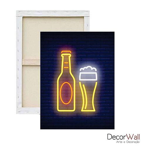 Quadro Decorativo Canvas Beer Neon Cerveja