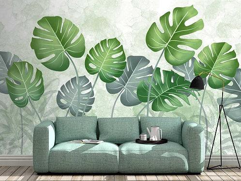 Foto Mural Artistico Folhas Costela de Adão