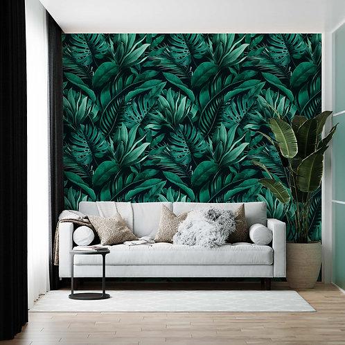 Foto Mural Folhas Verdes