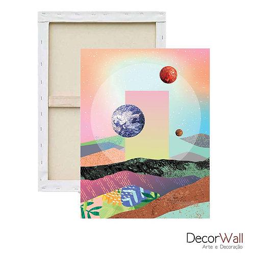 Quadro Decorativo Canvas Minimals Espaço Abstratos Colorido Artistico