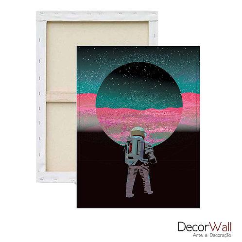 Quadro Decorativo Canvas Minimals Astronauta Espaço Abstratos Artistico