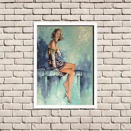 Quadro Mulher Arte em Pintura - QD022
