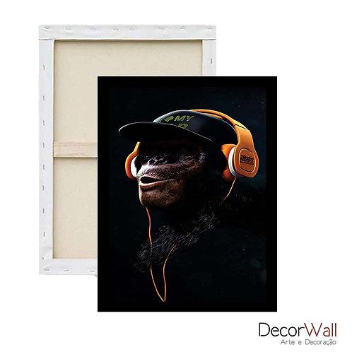 Quadro Decorativo Canva Gang dos macacos Artistico