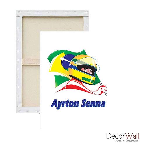 Quadro Tela Ayrton Senna
