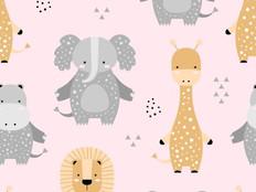 Infantil Safari com bichinhos elefante g