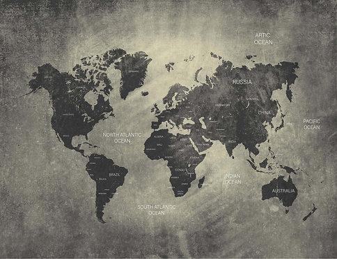 Foto Mural Mapa Mundi Personalizado